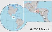 Gray Location Map of La Esperanza