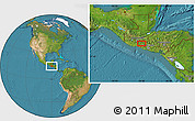 """Satellite Location Map of the area around 14°15'49""""N,90°1'30""""W"""