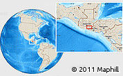 """Shaded Relief Location Map of the area around 14°15'49""""N,90°1'30""""W"""