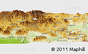 """Physical Panoramic Map of the area around 14°15'49""""N,90°1'30""""W"""