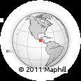 Outline Map of Tahuexco, rectangular outline