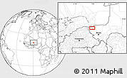Blank Location Map of Ayorou