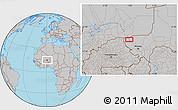 Gray Location Map of Ayorou
