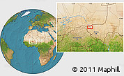 Satellite Location Map of Ayorou
