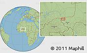 Savanna Style Location Map of Ayorou