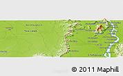 Physical Panoramic Map of Champasak
