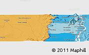 Political Panoramic Map of Champasak