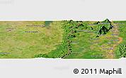 Satellite Panoramic Map of Champasak