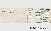 Shaded Relief Panoramic Map of Champasak