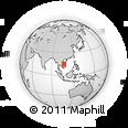 Outline Map of Muang Champassak, rectangular outline