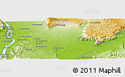 """Physical Panoramic Map of the area around 14°46'42""""N,106°19'29""""E"""