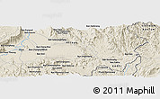 Shaded Relief Panoramic Map of Attapu
