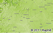 """Physical Map of the area around 14°46'42""""N,10°7'30""""W"""