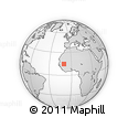 """Outline Map of the Area around 14° 46' 42"""" N, 10° 7' 30"""" W, rectangular outline"""