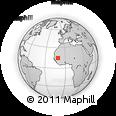 Outline Map of Lambatara, rectangular outline