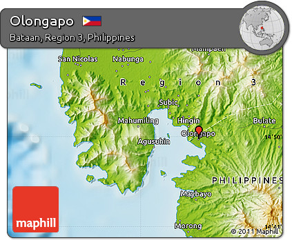 Olongapo Philippines Map.Free Physical Map Of Olongapo