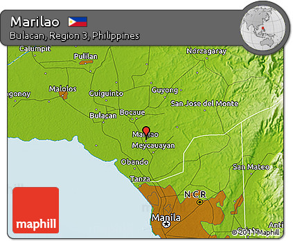 Free Physical D Map Of Marilao - Marilao map
