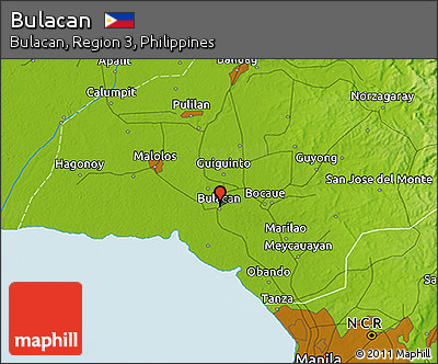 Free Physical D Map Of Bulacan - Bulacan map philippines