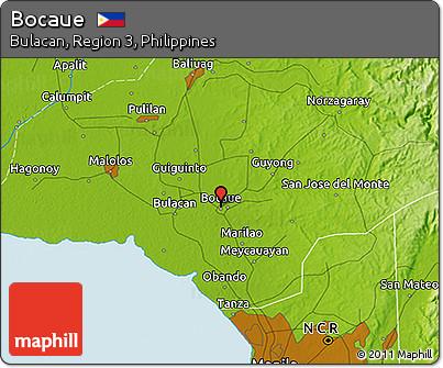 Free Physical D Map Of Bocaue - Bocaue map