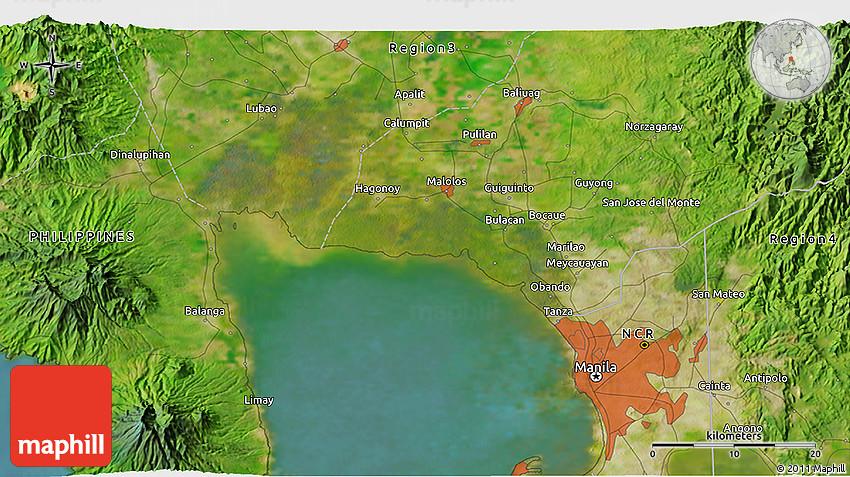 Satellite D Map Of Bocaue - Bocaue map
