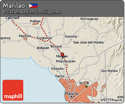 Free Shaded Relief D Map Of Marilao - Marilao map