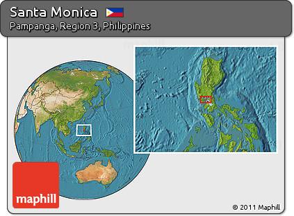 Free Satellite Location Map of Santa Monica