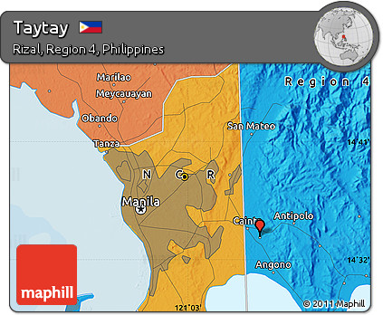 Rizal Philippines Map.Free Political Map Of Taytay