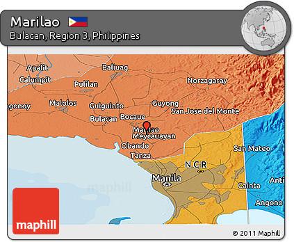 Free Political Panoramic Map Of Marilao - Marilao map