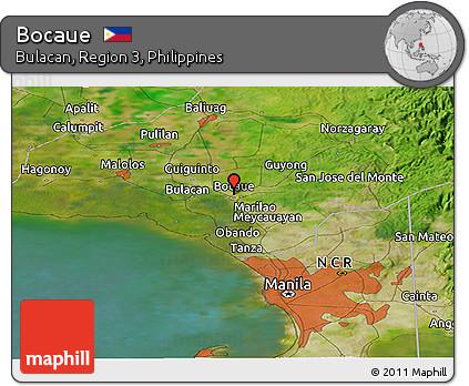 Free Satellite Panoramic Map Of Bocaue - Bocaue map