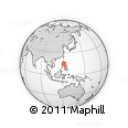 Outline Map of Maia Alta Crown Asia, rectangular outline