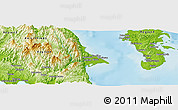 """Physical Panoramic Map of the area around 14°46'42""""N,121°37'30""""E"""