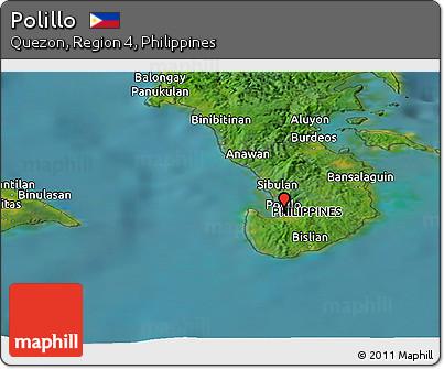 Free Satellite Panoramic Map of Polillo