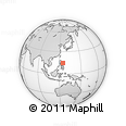 """Outline Map of the Area around 14° 46' 42"""" N, 125° 1' 30"""" E, rectangular outline"""