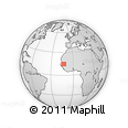 Outline Map of Gabou, rectangular outline