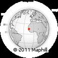 Outline Map of Senegal, rectangular outline