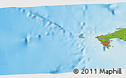 """Physical 3D Map of the area around 14°46'42""""N,17°46'29""""W"""