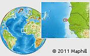 Physical Location Map of Dagoudane Pikine