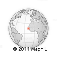 """Outline Map of the Area around 14° 46' 42"""" N, 17° 46' 29"""" W, rectangular outline"""