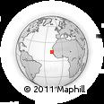 Outline Map of Dagoudane Pikine, rectangular outline