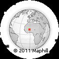 Outline Map of Mondoro, rectangular outline