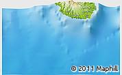 Physical 3D Map of Praia