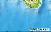 Physical Map of Praia