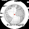 Outline Map of Praia, rectangular outline