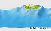 Physical Panoramic Map of Praia