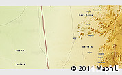 """Physical 3D Map of the area around 14°46'42""""N,36°37'30""""E"""