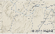 """Shaded Relief Map of the area around 14°46'42""""N,37°28'30""""E"""
