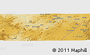 """Physical Panoramic Map of the area around 14°46'42""""N,37°28'30""""E"""