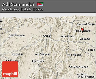 Shaded Relief 3D Map of Adi Scimandui