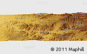 Physical Panoramic Map of Dabre