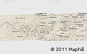 Shaded Relief Panoramic Map of Ad Dirco